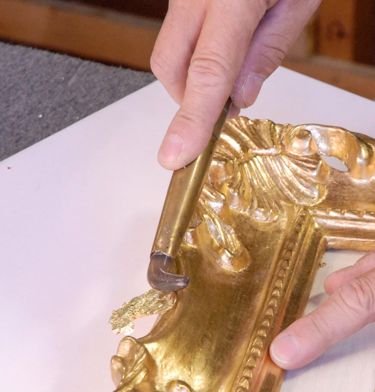 Annibale Esposti restauro cornice fatta a mano